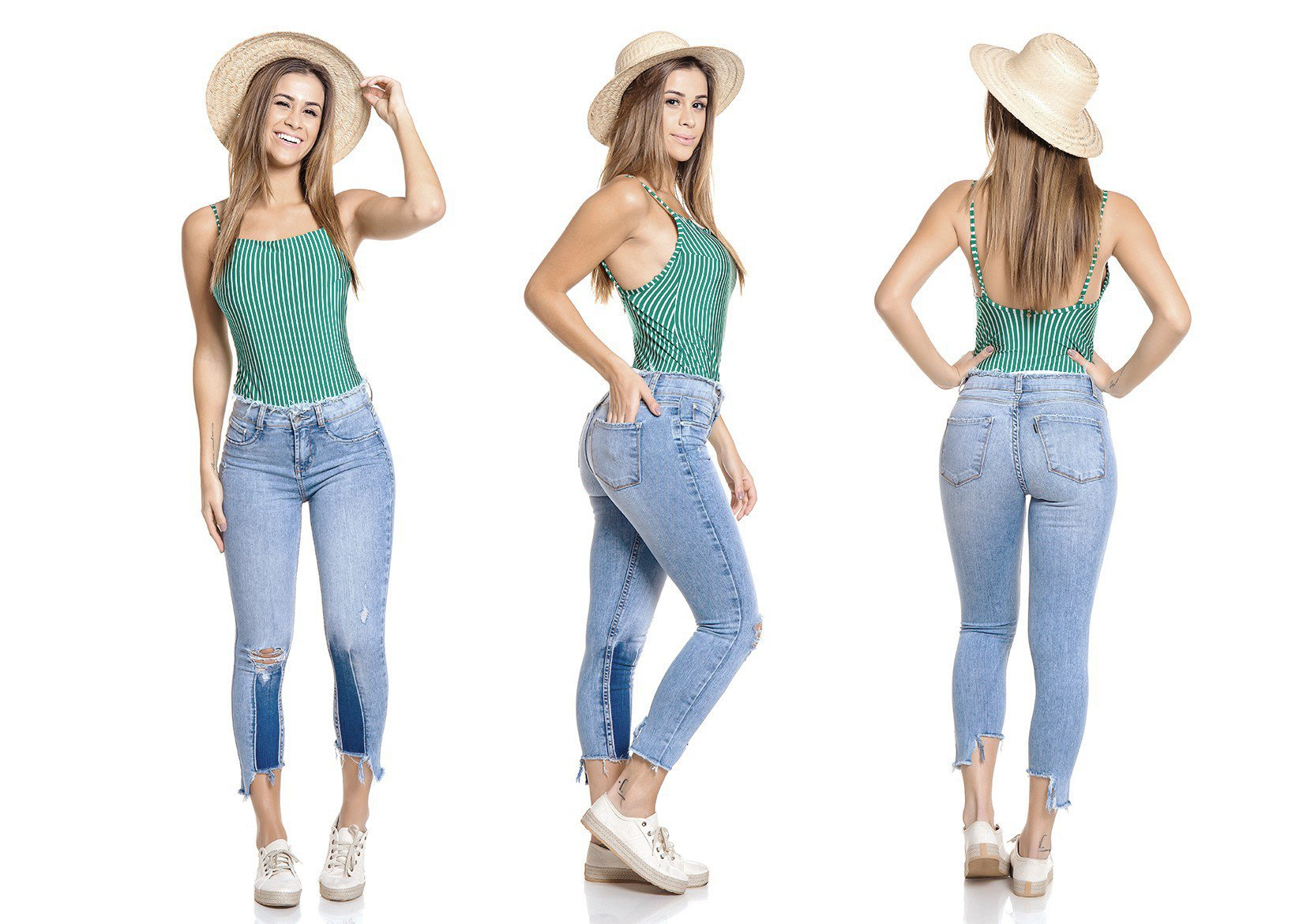 dz2785 calca skinny cropped media tripla