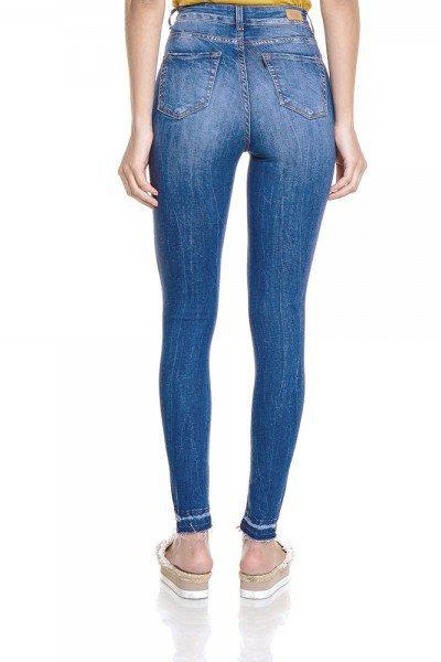 70ef6337d7aa9 Calça Jeans Feminina Skinny Cropped Cintura Alta com Listras - DZ2789