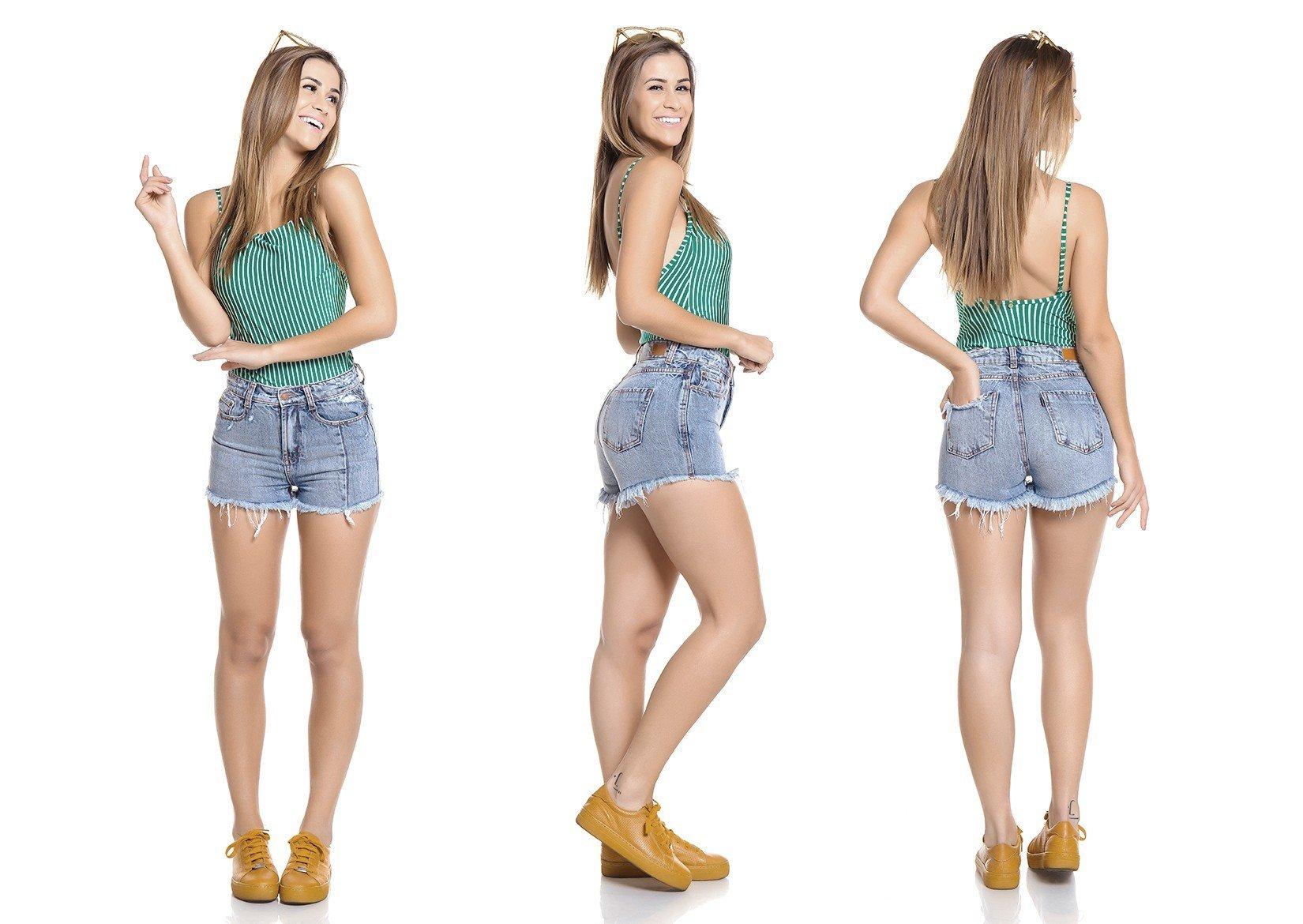 dz6261 shorts setentinha tripla