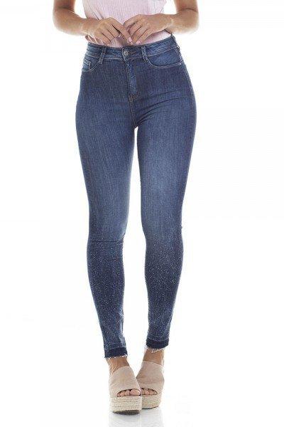 95d35caf0 Calça Jeans Feminina Skinny Cigarrete Cintura Alta Escura - DZ2816. dz2816  calca skinny hot pants cigarrete zoom frente