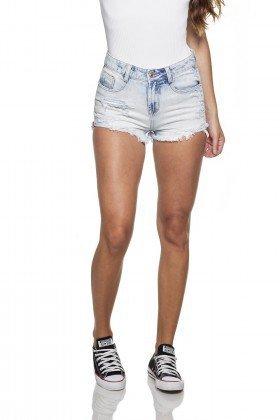 dz6240 shorts jeans feminino young barra dobrada frente proxima denim zero
