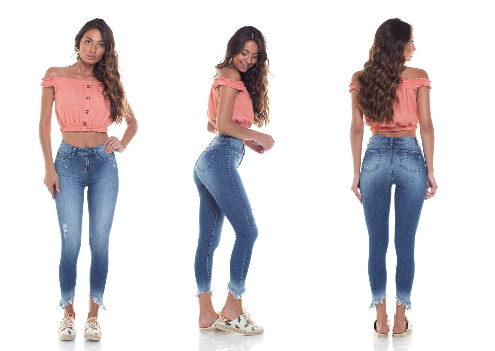 dz2796 calca skinny media cigarrete tripla