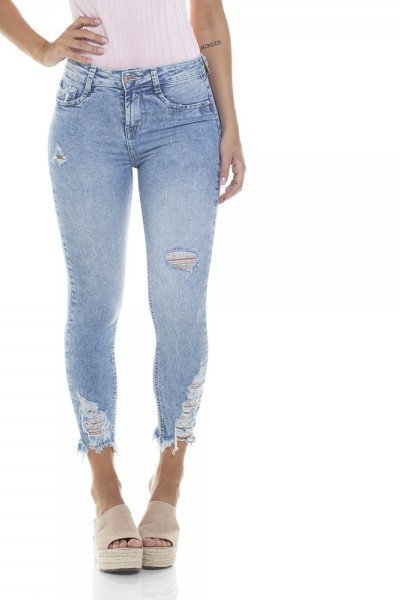 dz2802 calca skinny cropped media