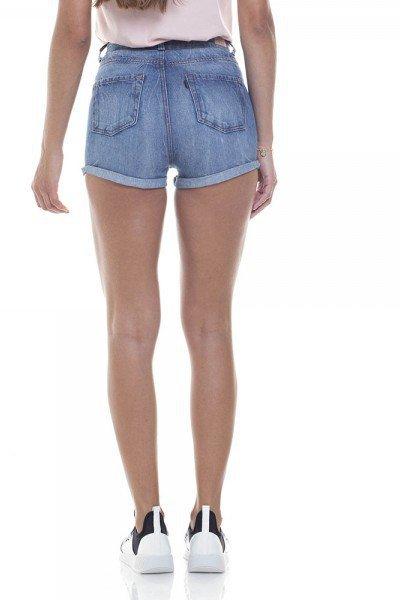 e27c918adf792 Shorts Jeans Feminino Setentinha Barra Dobrada - DZ6270