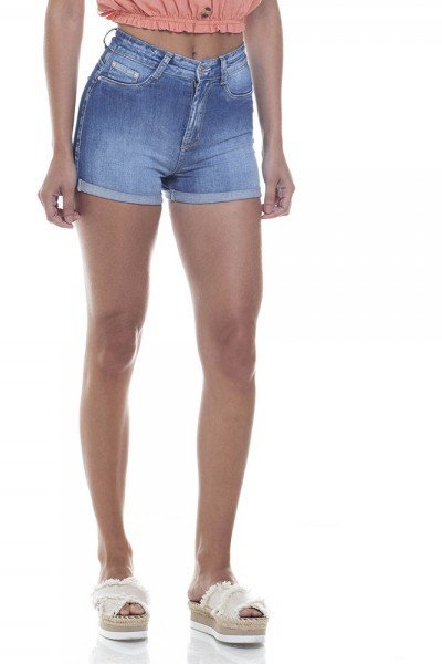 f9a91f330ced8 Shorts Jeans Feminino Pin Up Barra Dobrada - DZ6280. dz6280 shorts pin up  zoom frente