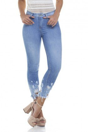 dz2812 calca skinny cropped media zoom frente