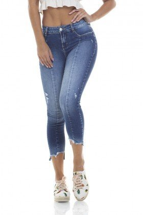 dz2813 calca skinny cropped media zoom frente