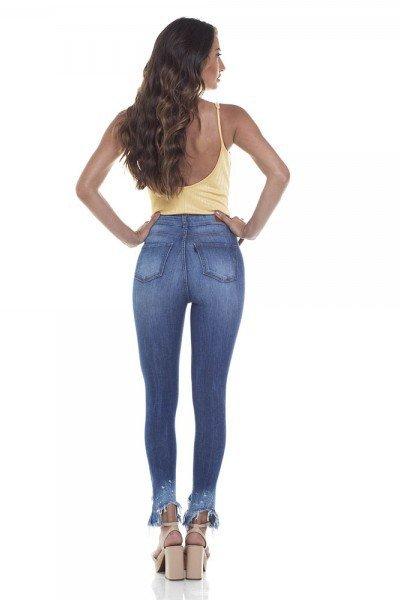 332ba0026c314 Calça Jeans Feminina Skinny Cintura Alta Cigarrete Desfiada - DZ2815