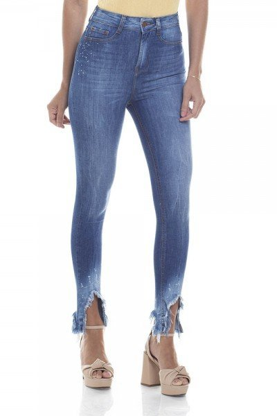 dz2815 calca skinny hot pants cigarrete zoom frente