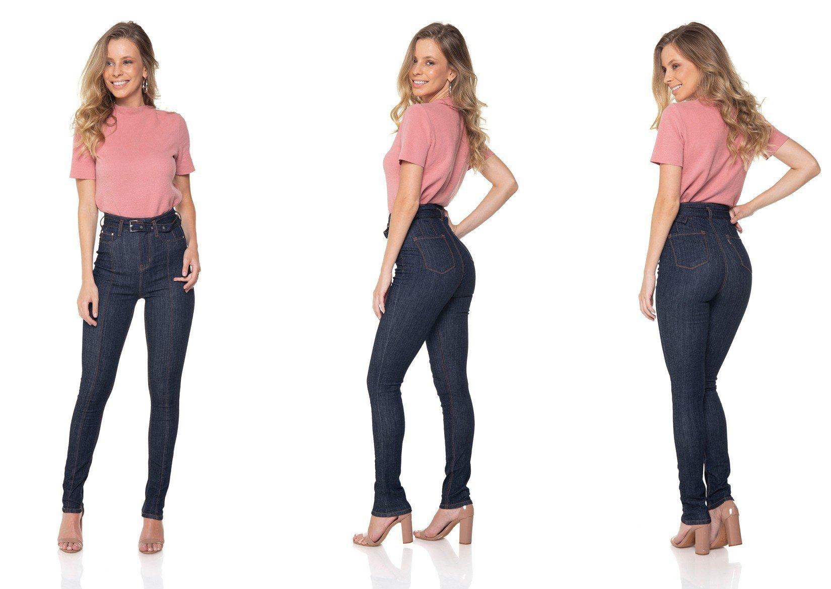 dz2843 calca jeans skinny hot pants cinto de jeans denim zero tripla