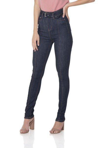 a9bb0e7047 dz2843 calca jeans skinny hot pants cinto de jeans denim zero frente 02 prox