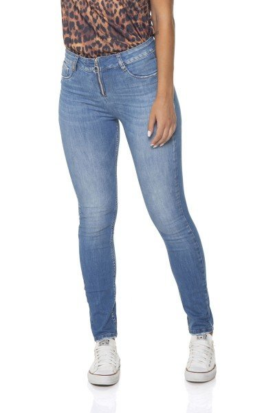 dz2855 calca jeans skinny media com ziper denim zero frente prox