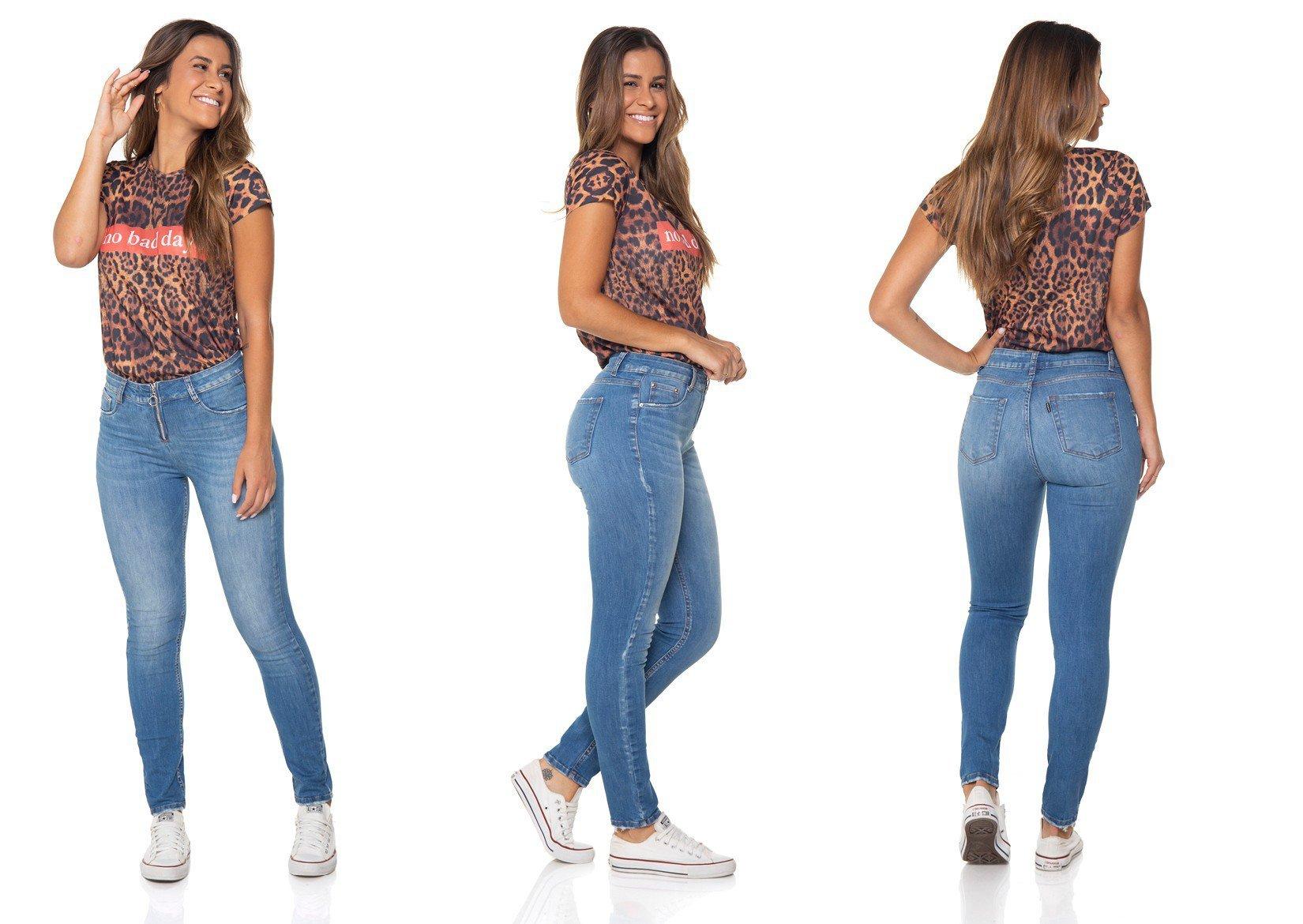 dz2855 calca jeans skinny media com ziper denim zero tripla