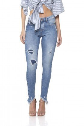 dz2837 calca jeans skinny media com patch aplique denim zero frente prox
