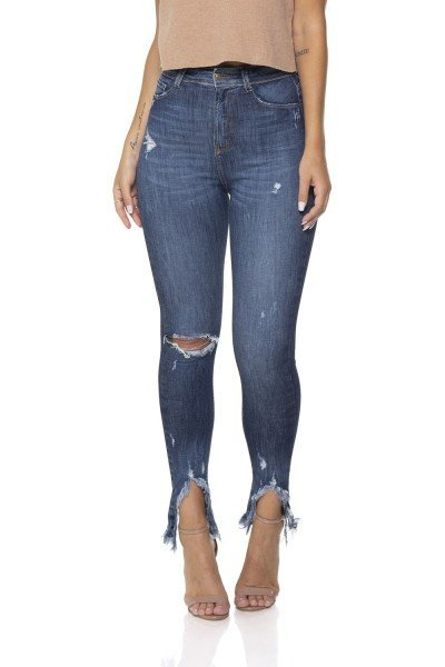 dz2844 calca jeans skinny cigarrete hot pants denim zero frente prox