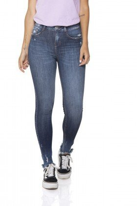 dz2846 calca jeans skinny media cigarrete denim zero frente prox
