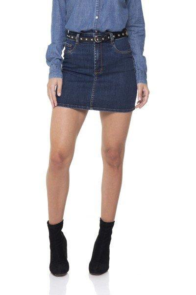 dz7089 saia jeans tubinho escura denim zero frente prox