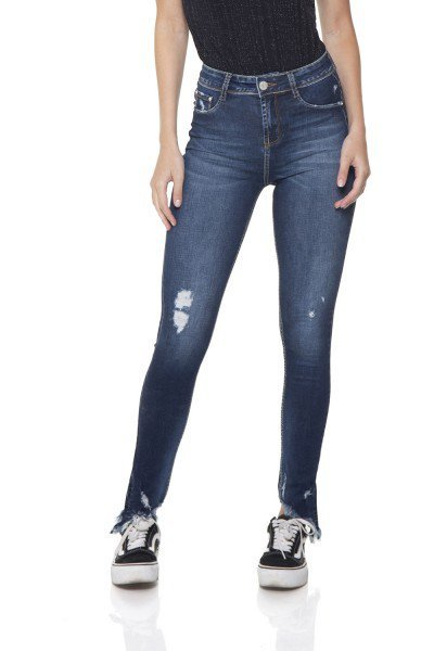 dz2849 calca jeans skinny media barra desfiada denim zero frente prox
