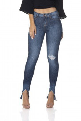 dz2851 calca jeans skinny media barra diferenciada frente prox