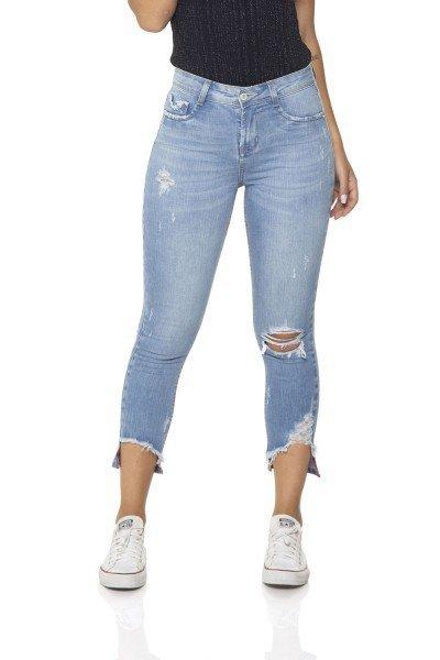dz2861 calca jeans skinny cropped media denim zero frente prox