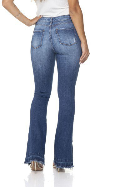f026d64e6 ... dz2864 calca jeans flare media denim zero costas prox ...