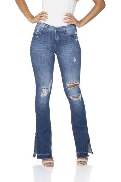 dz2864 calca jeans flare media denim zero frente 02 prox