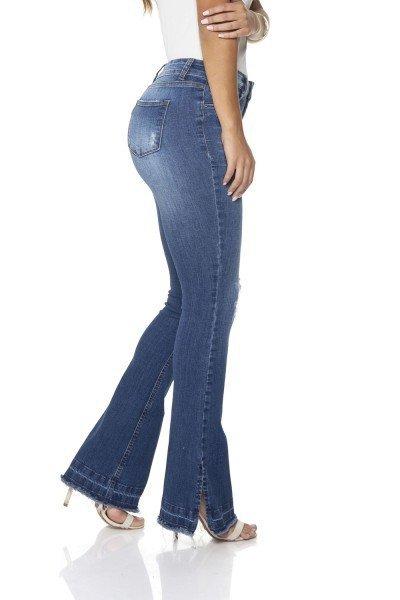 0cda7ff2b ... dz2864 calca jeans flare media denim zero lado prox ...