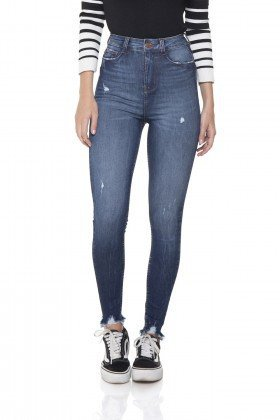 dz2865 calca jeans skinny hot pants cigarrete denim zero frente prox