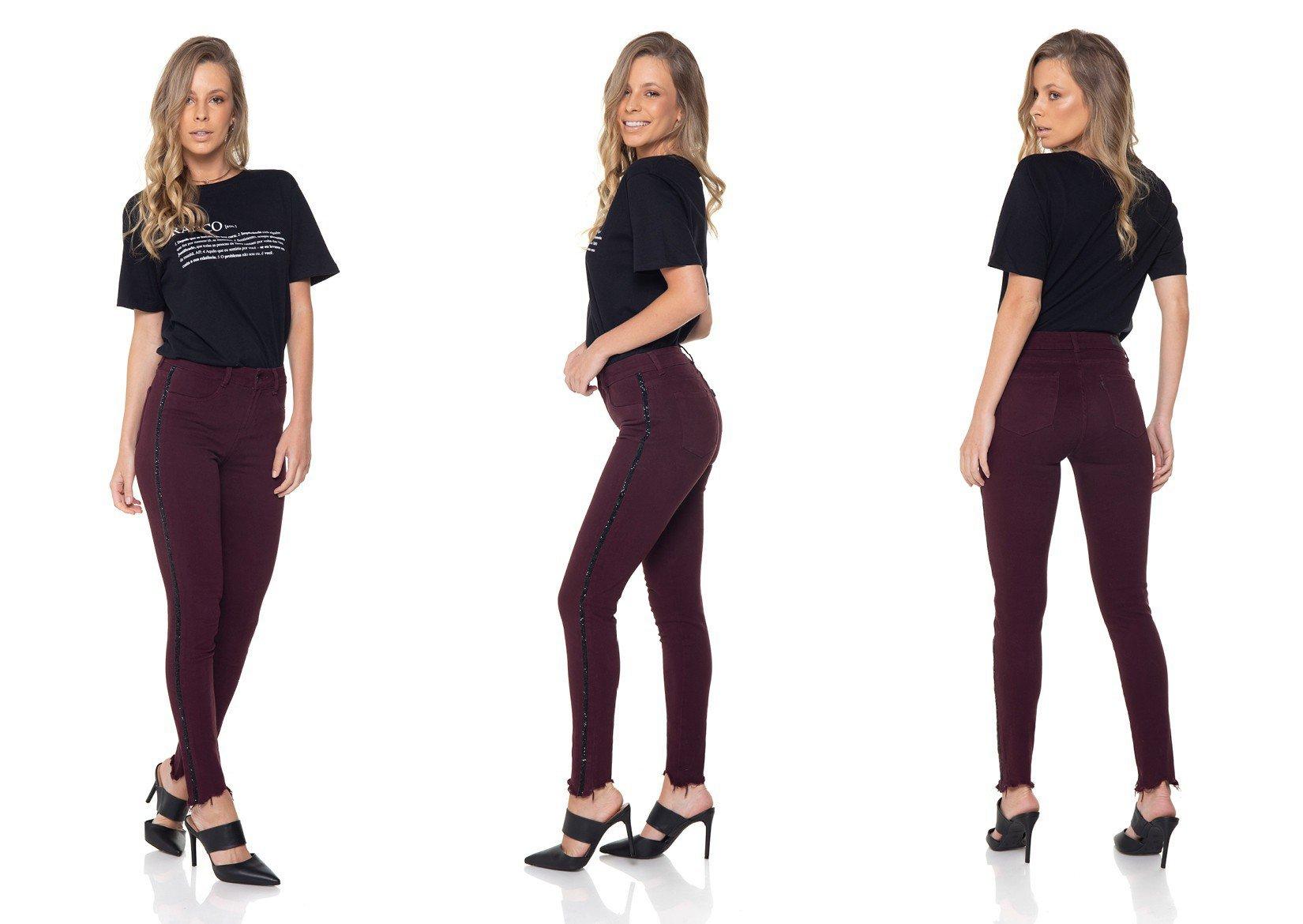 dz2868 calca jeans skinny media cigarrete passion denim zero tripla