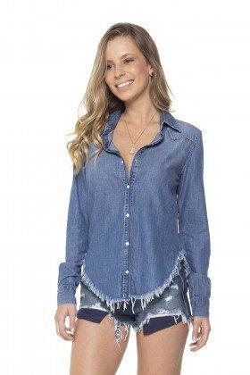 dz11135 camisa jeans barra desfiada denim zero frente prox