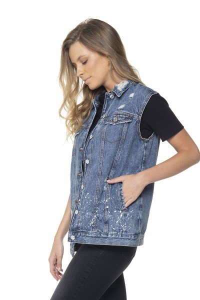 ... dz9087 colete oversize jeans denim zero lado prox ... 73d25287956
