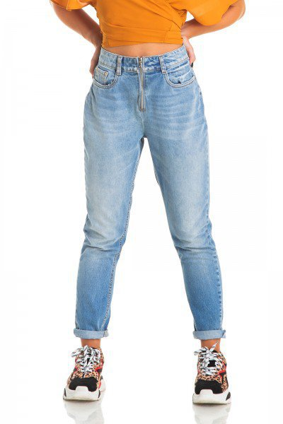 dz2845 calca jeans feminina mom denim zero frente prox