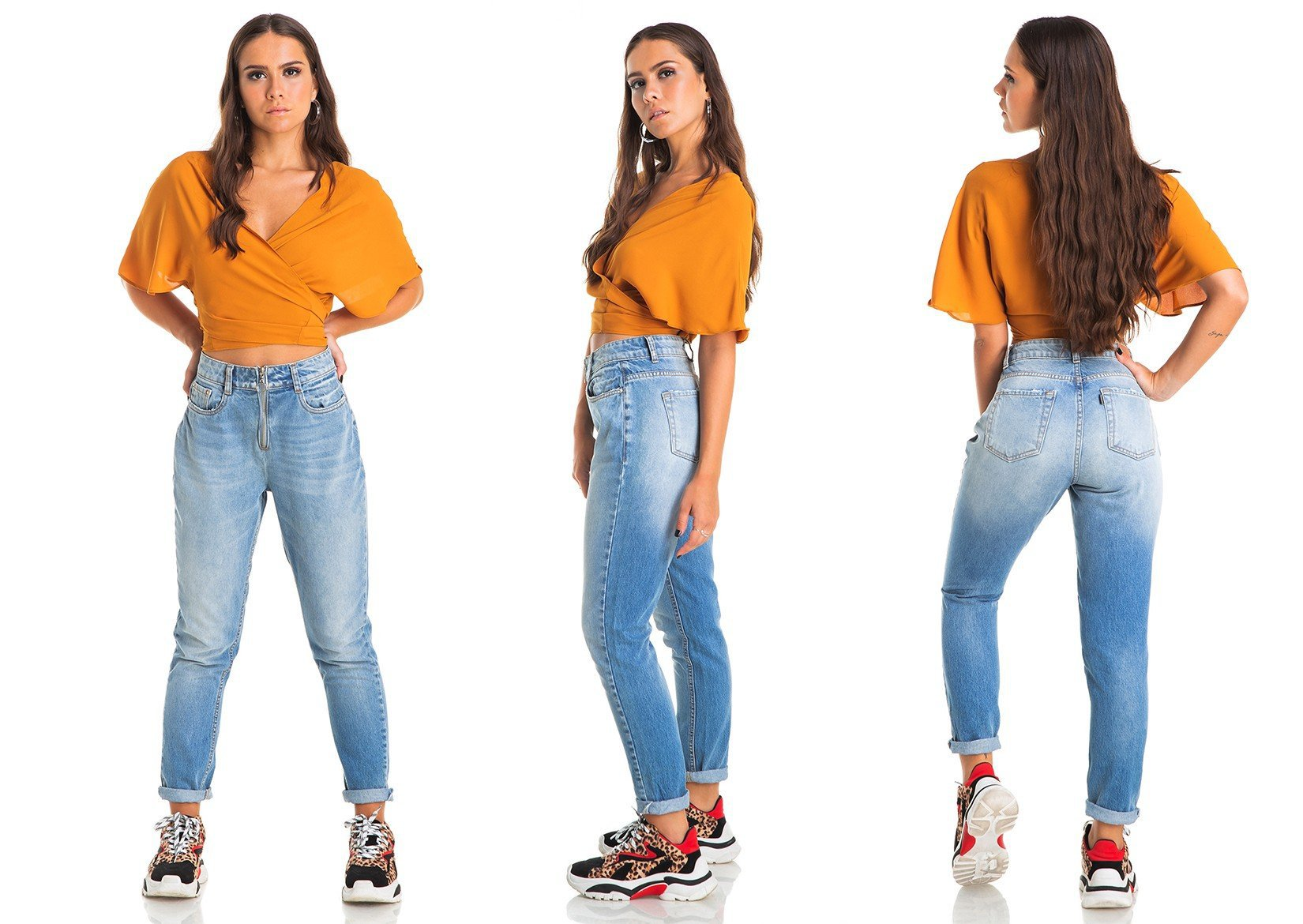 dz2845 calca jeans feminina mom denim zero tripla