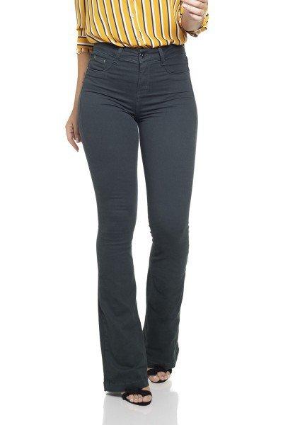 87dfacb6d Calça Jeans Feminina Flare Média Colorida - DZ2516-12