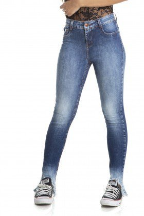 dz2872 calca skinny media barra irregular denim zero frente crop