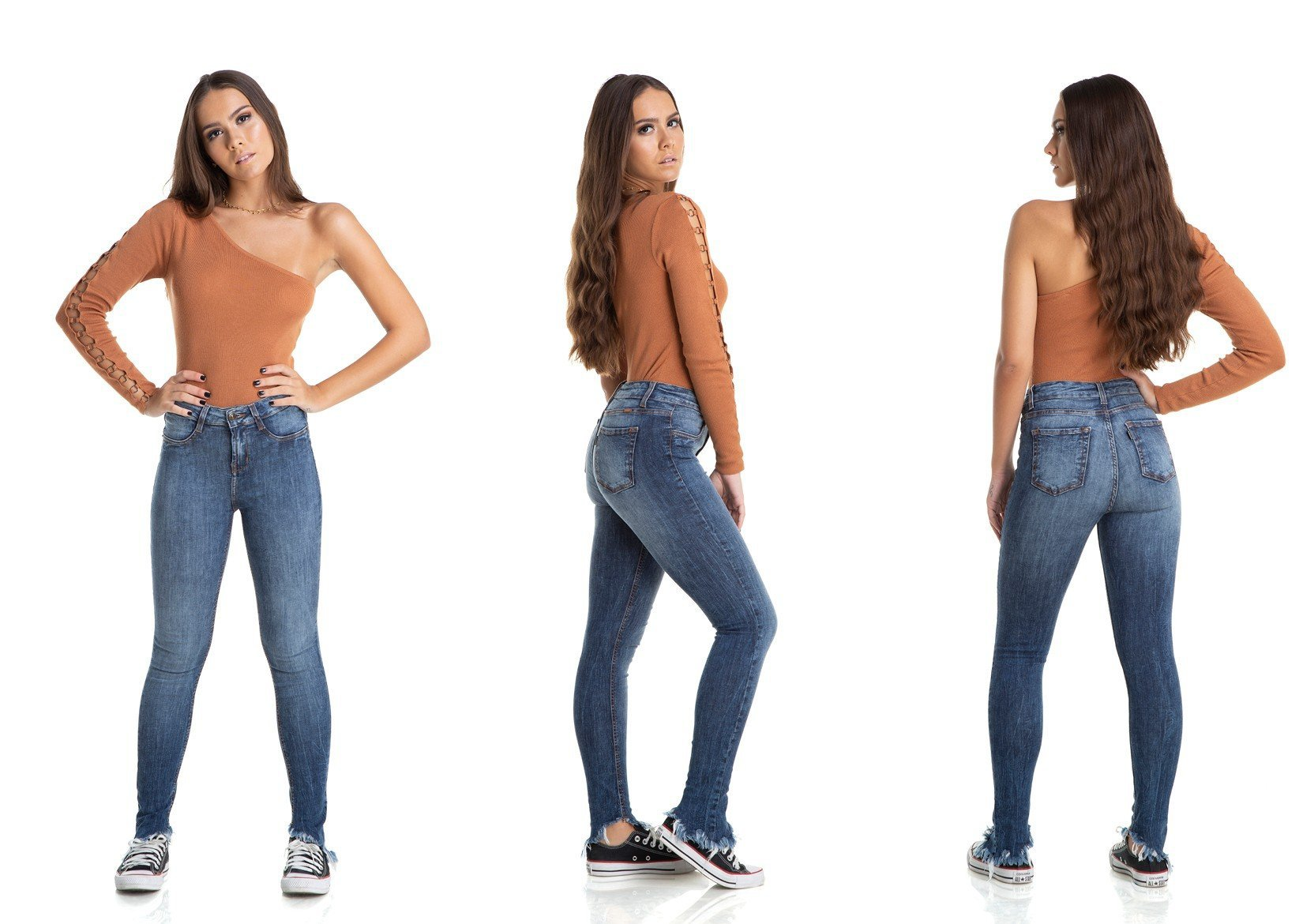 dz2874 calca skinny media lavacao mais escura denim zero trio