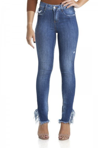 dz2883 calca skinny cigarrete media fenda desfiada denim zero frente crop