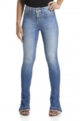 dz2888 calca new boot cut media estonada denim zero frente crop