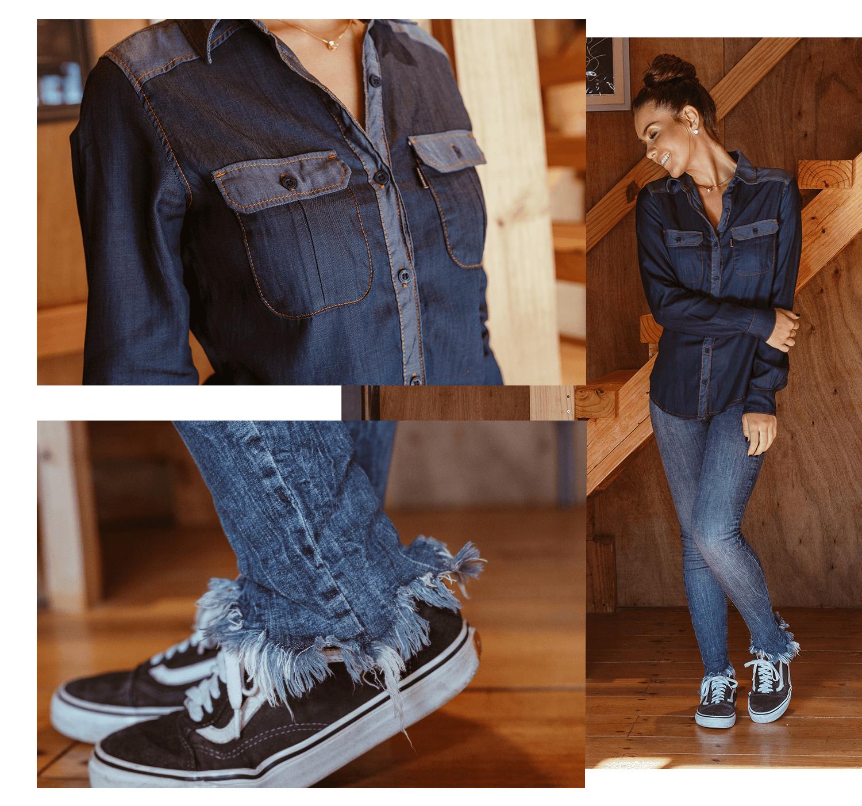 02 camisa jeans do trabalho ao happy hour