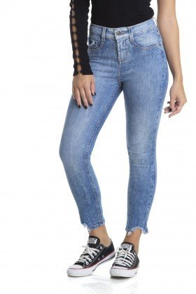 dz2886 calca skinny cropped media comido barra denim zero frente crop