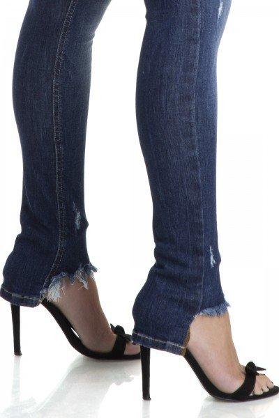 ce17867a59987 ... dz2893 calca skinny hot pants puidos denim zero detalhes ...