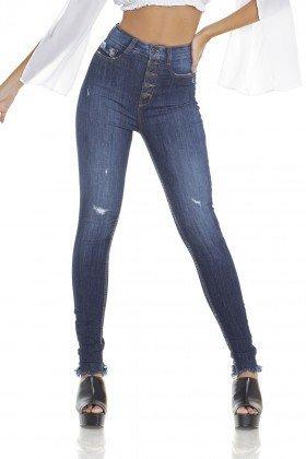 dz2918 calca jeans skinny cintura alta cigarrete com fechamento de botoes frente prox denim zero