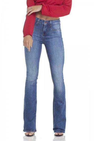 dz2916 calca jeans flare media estonada frente prox denim zero
