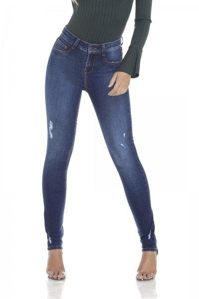 dz2902 calca jeans skinny media com puidos frente crop denim zero