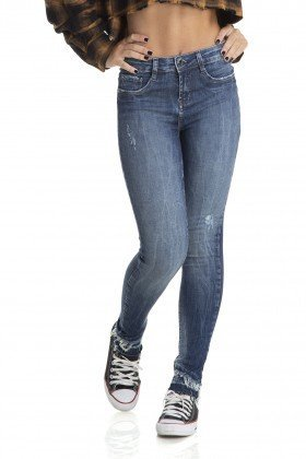 dz2878 calca skinny cigarrete media barra dupla denim zero frente crop