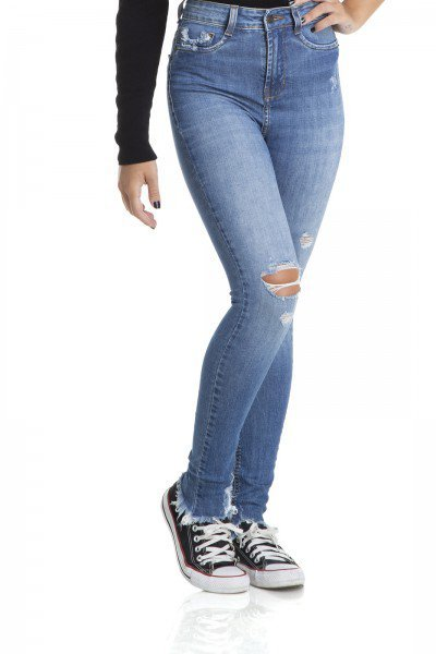 dz2891 calca skinny media rasgos denim zero frente crop