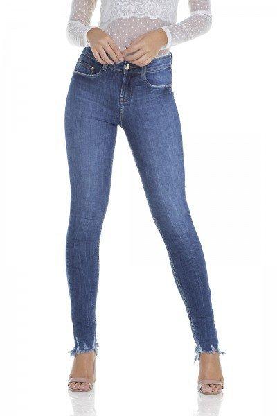 dz2932 calca jeans skinny media barra destroyed frente prox denim zero