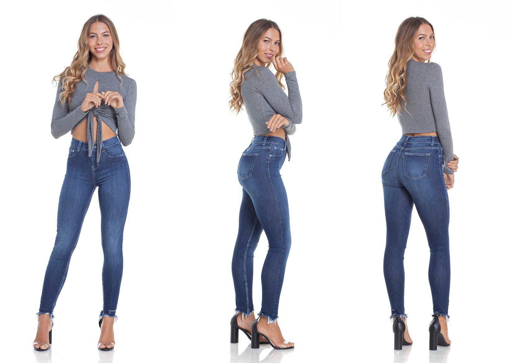 dz2937 calca jeans skinny media cigarrete com bordado tripla denim zero