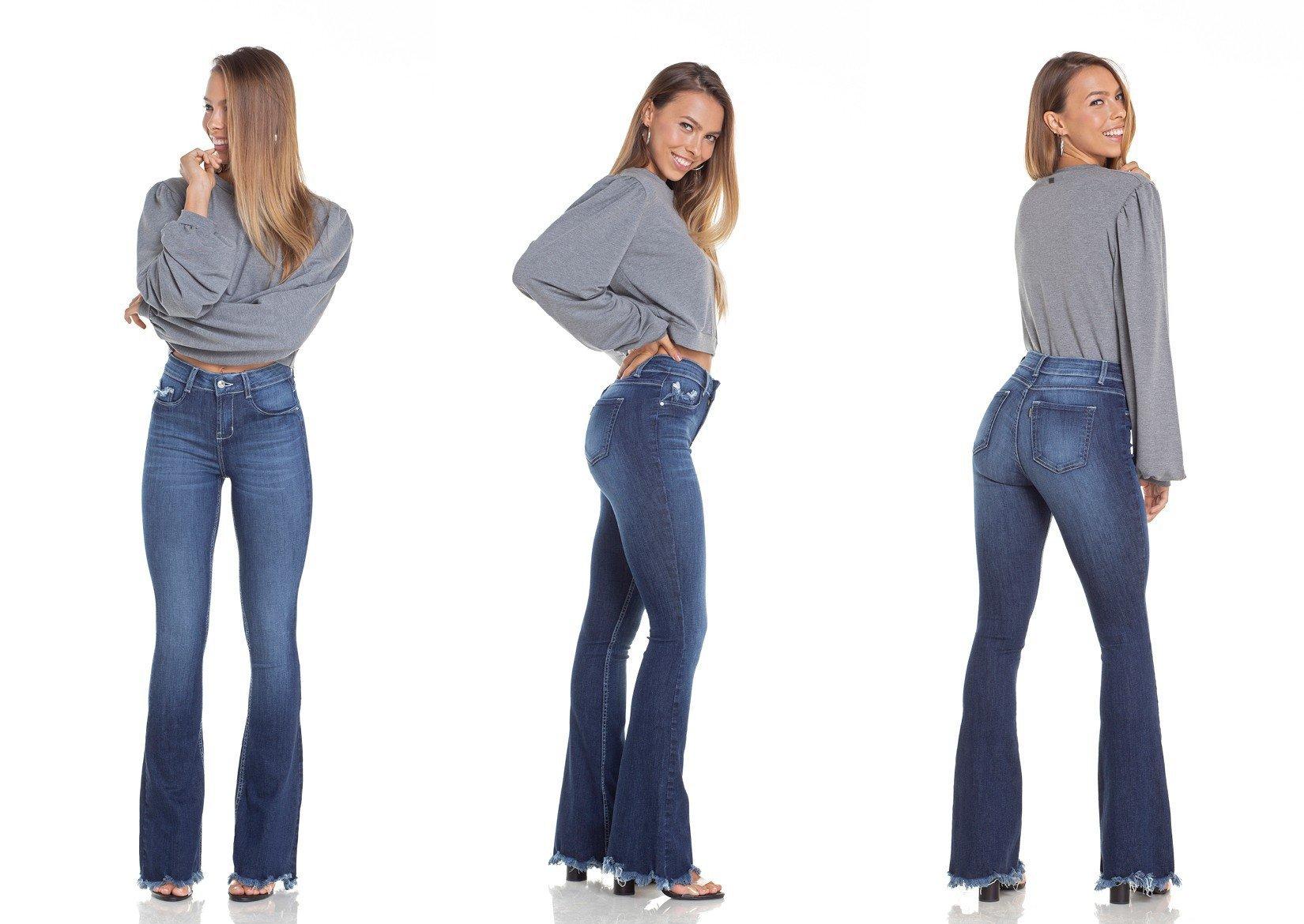 a5f41ef03 dz2949 calca jeans flare media com bigodes tripla denim zero