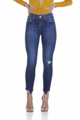 dz2912 calca jeans skinny media cropped ponta na barra frente crop denim zero